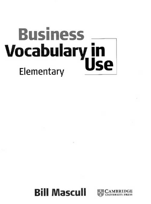 Test Your English Vocabulary in Use: Elementary